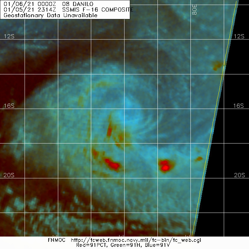05/2314UTC. TC 08S. THE LOW LEVEL CYCLONIC CIRCULATION REMAINED WELL ORGANIZED BUT WAS ALMOST DEVOID OF DEEP CONVECTION.
