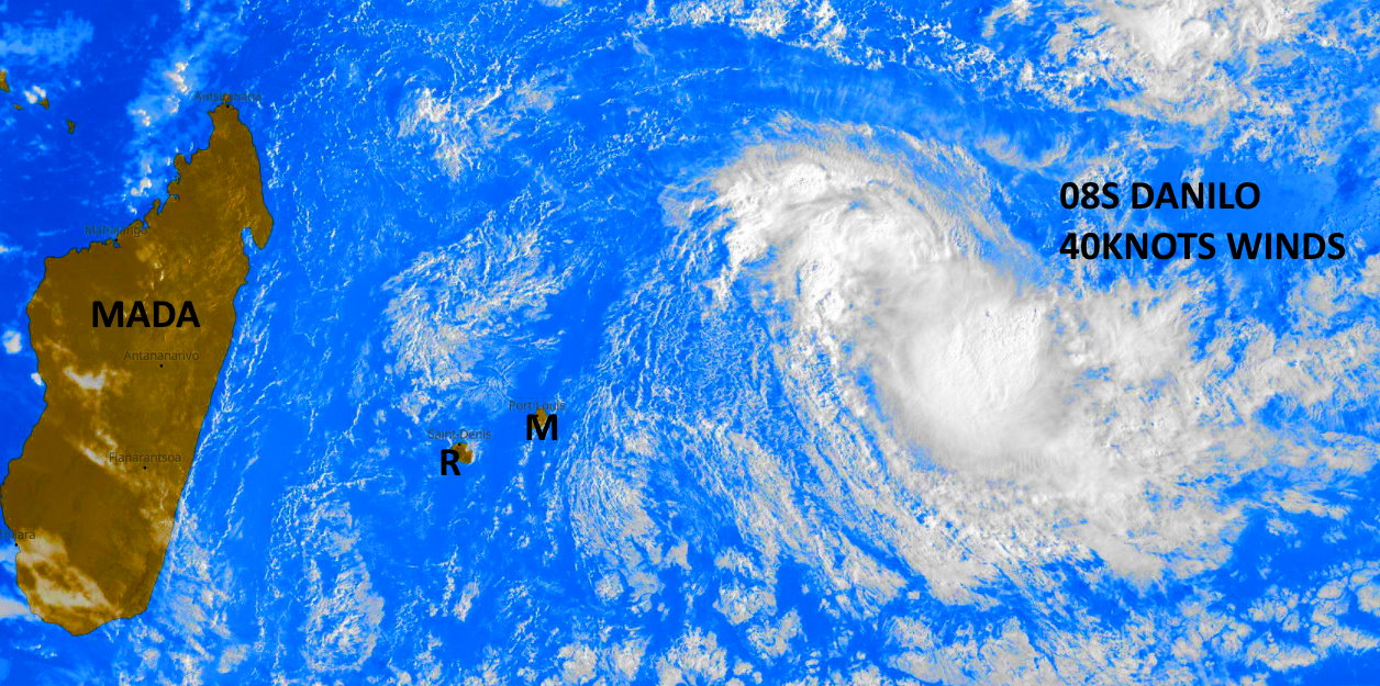 SATELLITE IMAGERY DEPICTS TWO LARGE CLUSTERS OF DEEP  CONVECTION FLARING AROUND A BROADLY-DEFINED LOW-LEVEL CIRCULATION.