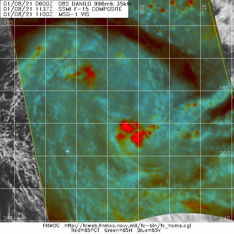 08/1137UTC. CONVECTION HAS BEEN INTENSIFYING AGAIN NEAR 18°SOUTH.