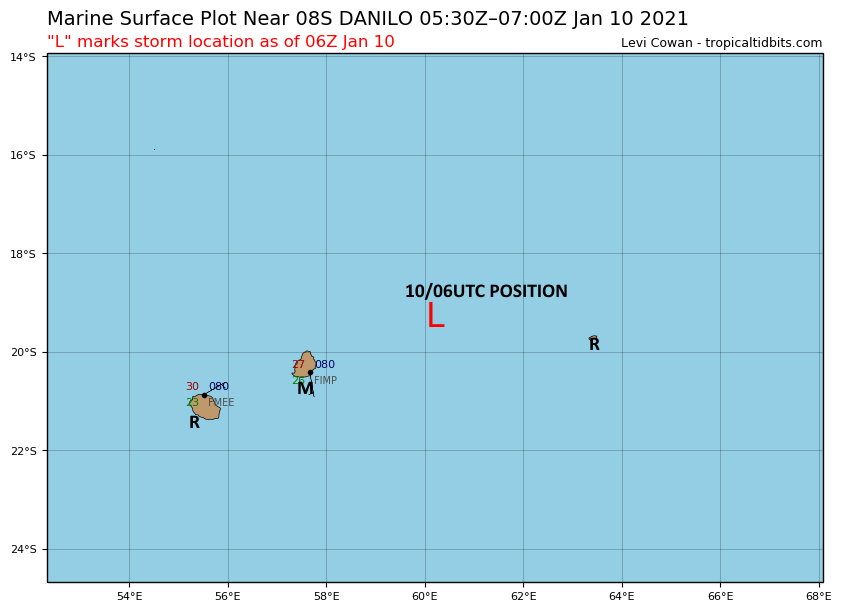 Remnants of 08S(DANILO) and Invest 98S: Update at 10/06utc