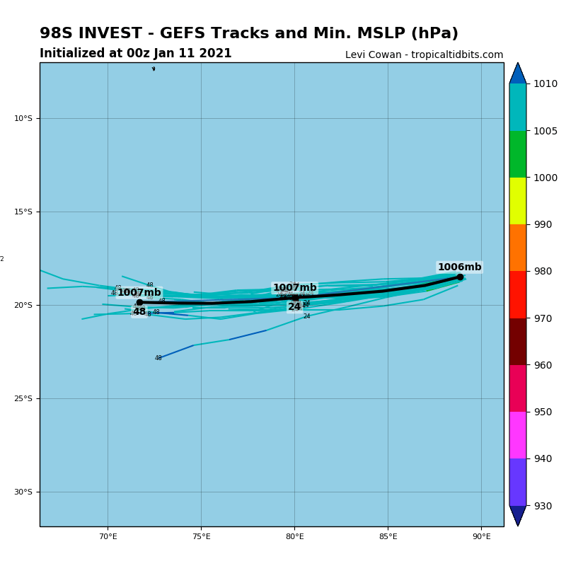INVEST 98S. MODELS ARE NOT DEVELOPING THIS SYSTEM.