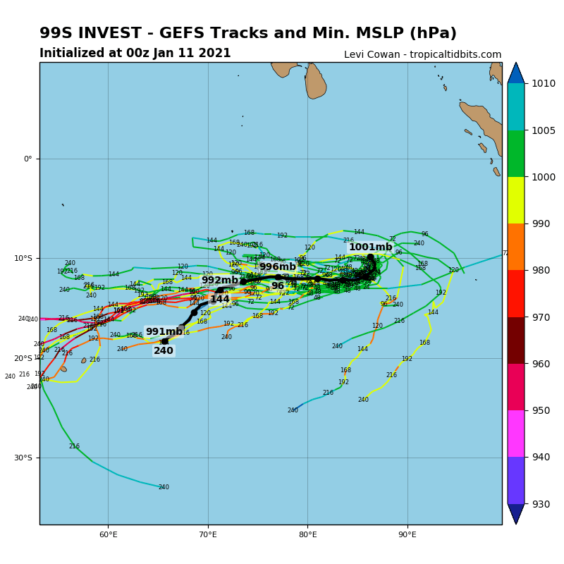 INVEST 99S. MODELS DEVELOP THIS SYSTEM AT LONG RANGE.