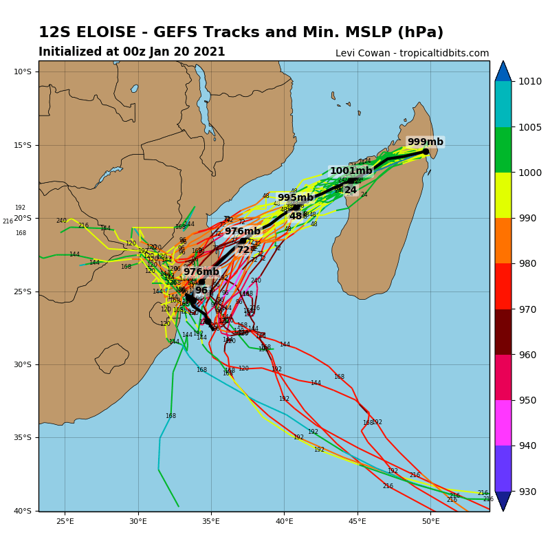 12S(ELOISE). SIGNIFICANT RE-INTENSIFICATION IS EXPECTED OVER THE MOZ CHANNEL WHILE APPROACHING MOZAMBIQUE.