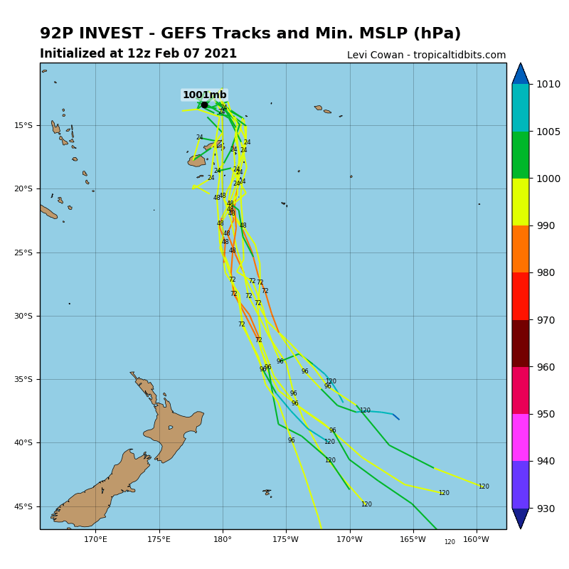 INVEST 92P.NUMERICAL MODELS ARE  IN GENERAL AGREEMENT THAT 92P WILL CONSOLIDATE AS IT TRACKS POLEWARD  WITHIN THE SOUTH PACIFIC CONVERGENCE ZONE.