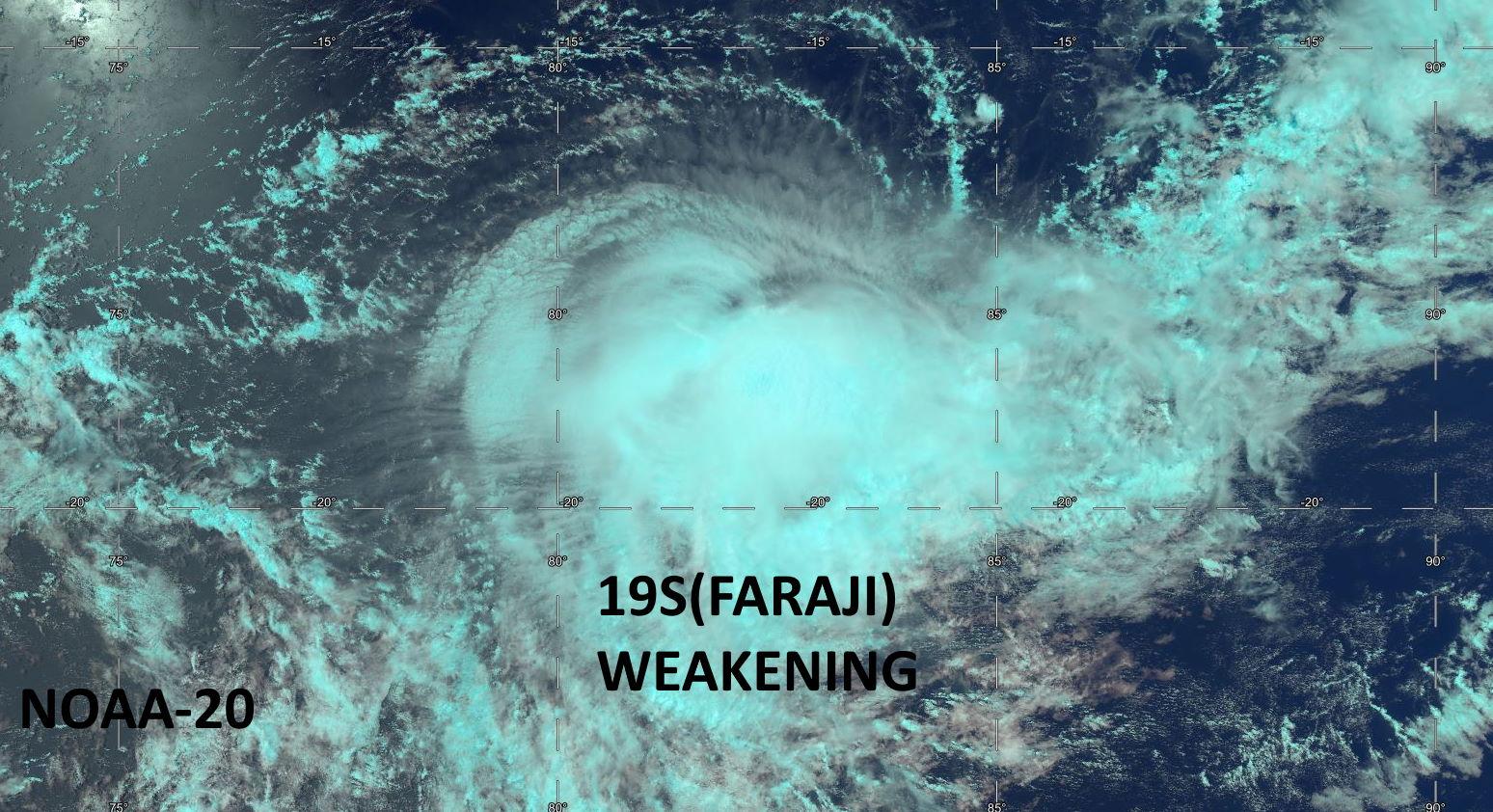 19S(FARAJI). 12/0804UTC. NOAA-20. RAPIDLY DETERIORATING SATELLITE SIGNATURE.