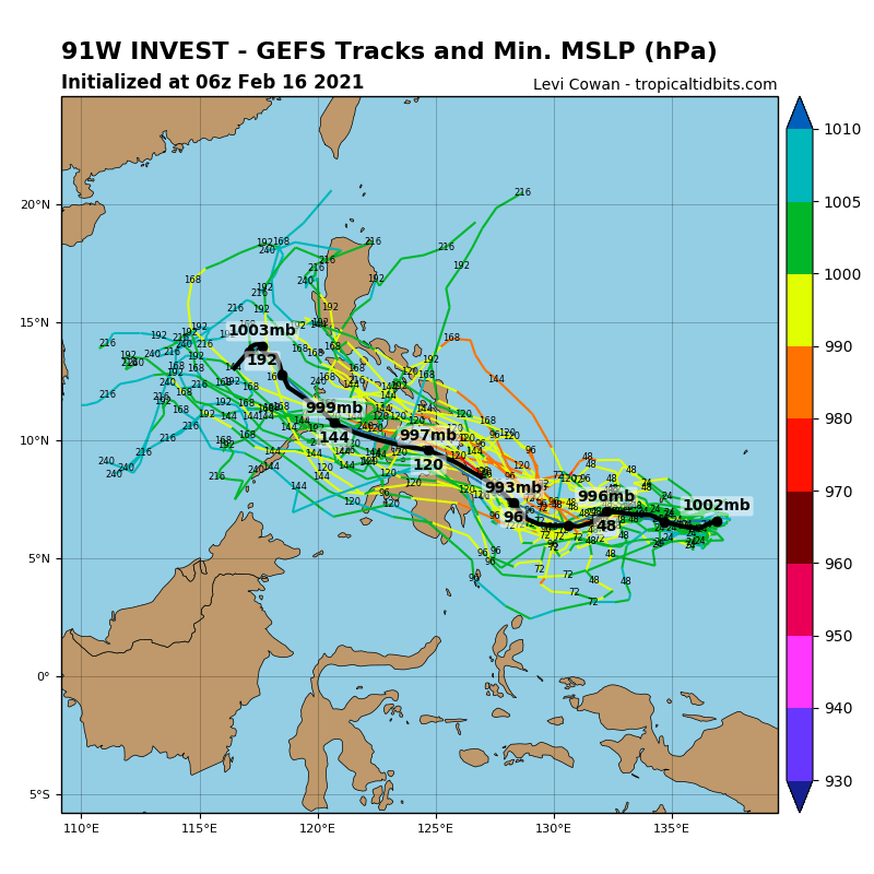 INVEST 91W.  GLOBAL MODELS ARE IN GOOD AGREEMENT THAT  91W WILL STRENGTHEN AND CONSOLIDATE AS IT TRACKS WEST-NORTHWESTWARD.