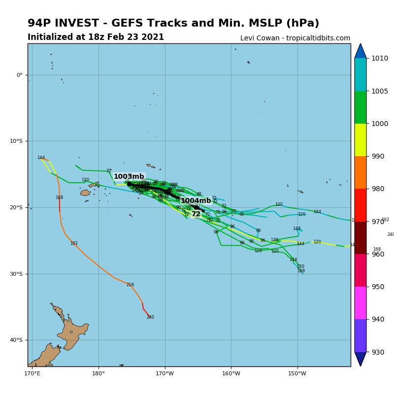 INVEST 94P. GLOBAL MODELS GENERALLY INDICATE THAT INVEST 94P WILL  PROPAGATE EAST-SOUTHEASTWARD ALONG THE TROUGH WITH MINIMAL  CONSOLIDATION OR STRENGTHENING.