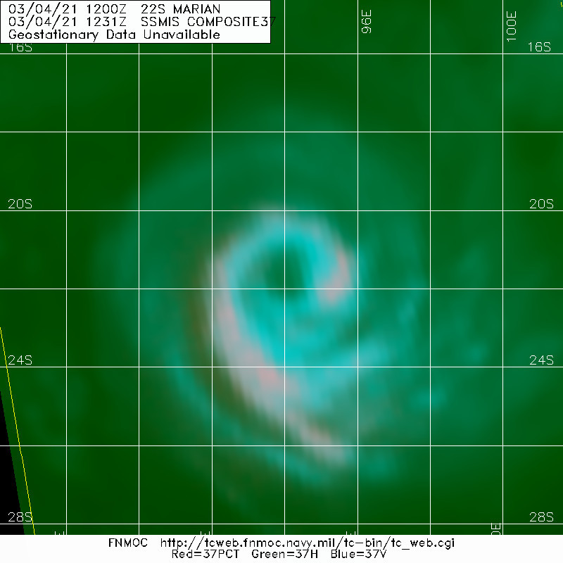 22S(MARIAN). 04/1231UTC.WELL-DEFINED MICROWAVE EYE FEATURE.