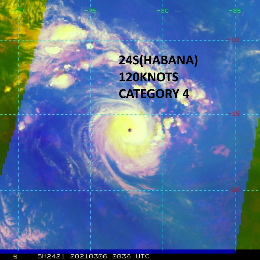 24S(HABANA). 06/0036UTC. IR/WV/Microwave RGB ) DEPICTS A COMPACT AND SYMMETRICAL SYSTEM WITH A TIGHT EYE FEATURE.