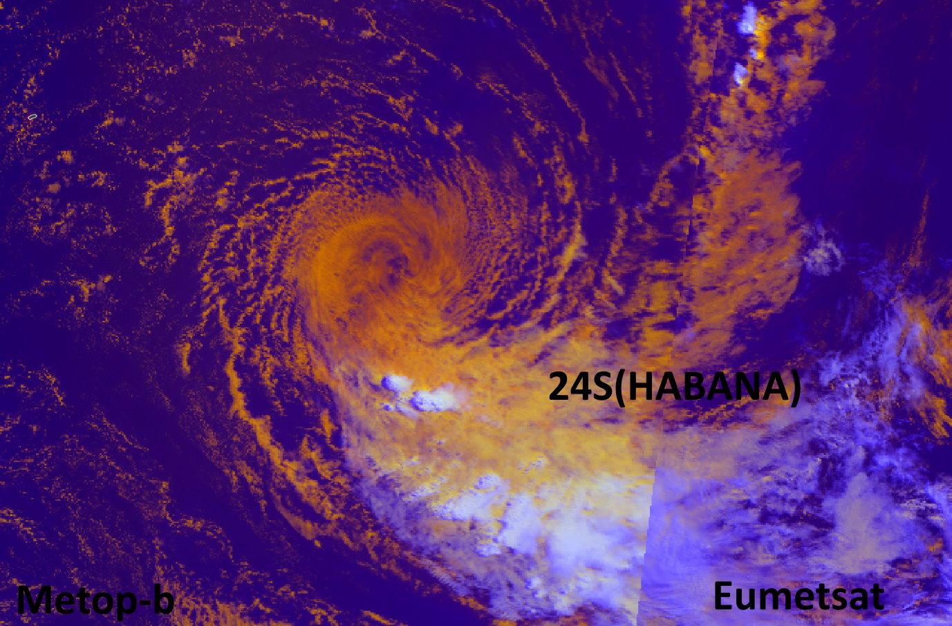 24S(HABANA). 16/0446UTC. METOP-B. Eumetsat. Enhanced by PH.