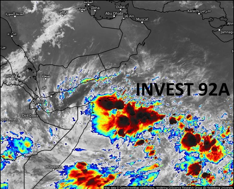 11/0130UTC. ANIMATED ENHANCED INFRARED (EIR) SATELLITE IMAGERY AND A PARTIAL  102151Z AMSR2 89 GHZ MICROWAVE IMAGE REVEALS DISORGANIZED BANDING  WITH CYCLING CONVECTION WRAPPING INTO A RELATIVELY WEAK LOW LEVEL  CIRCULATION (LLC).