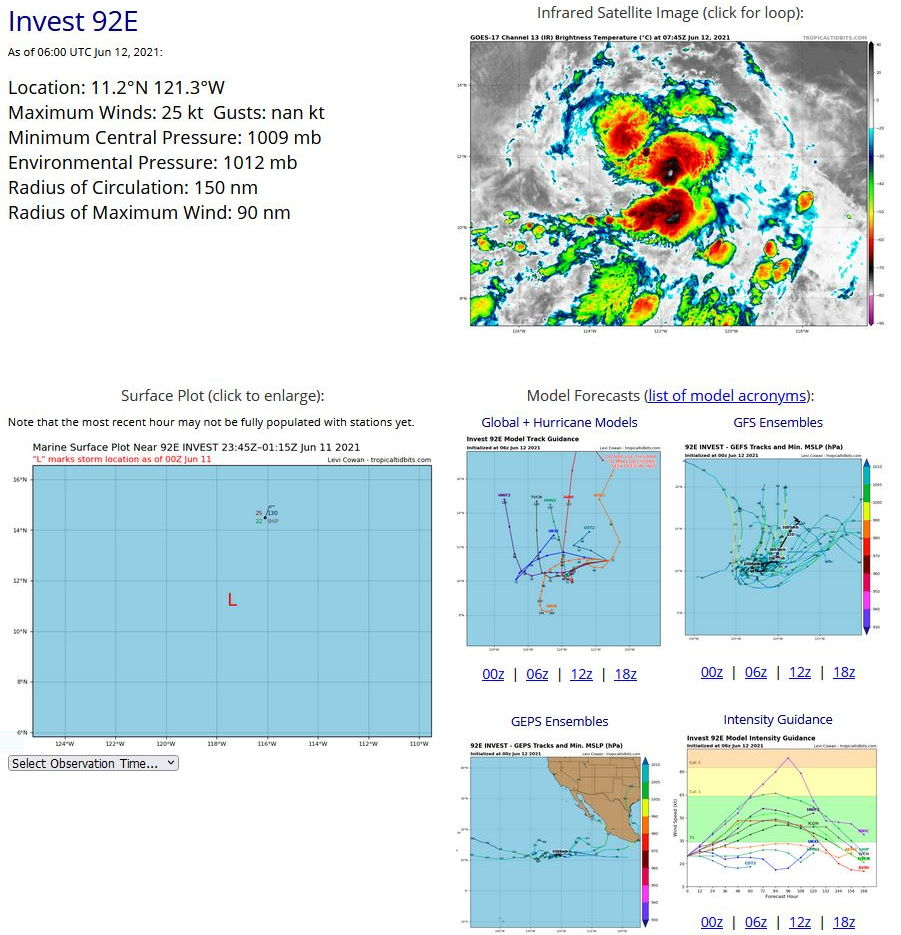 EASTERN NORTH PACIFIC. 12/06UTC. DETAILS FOR INVEST 92E.