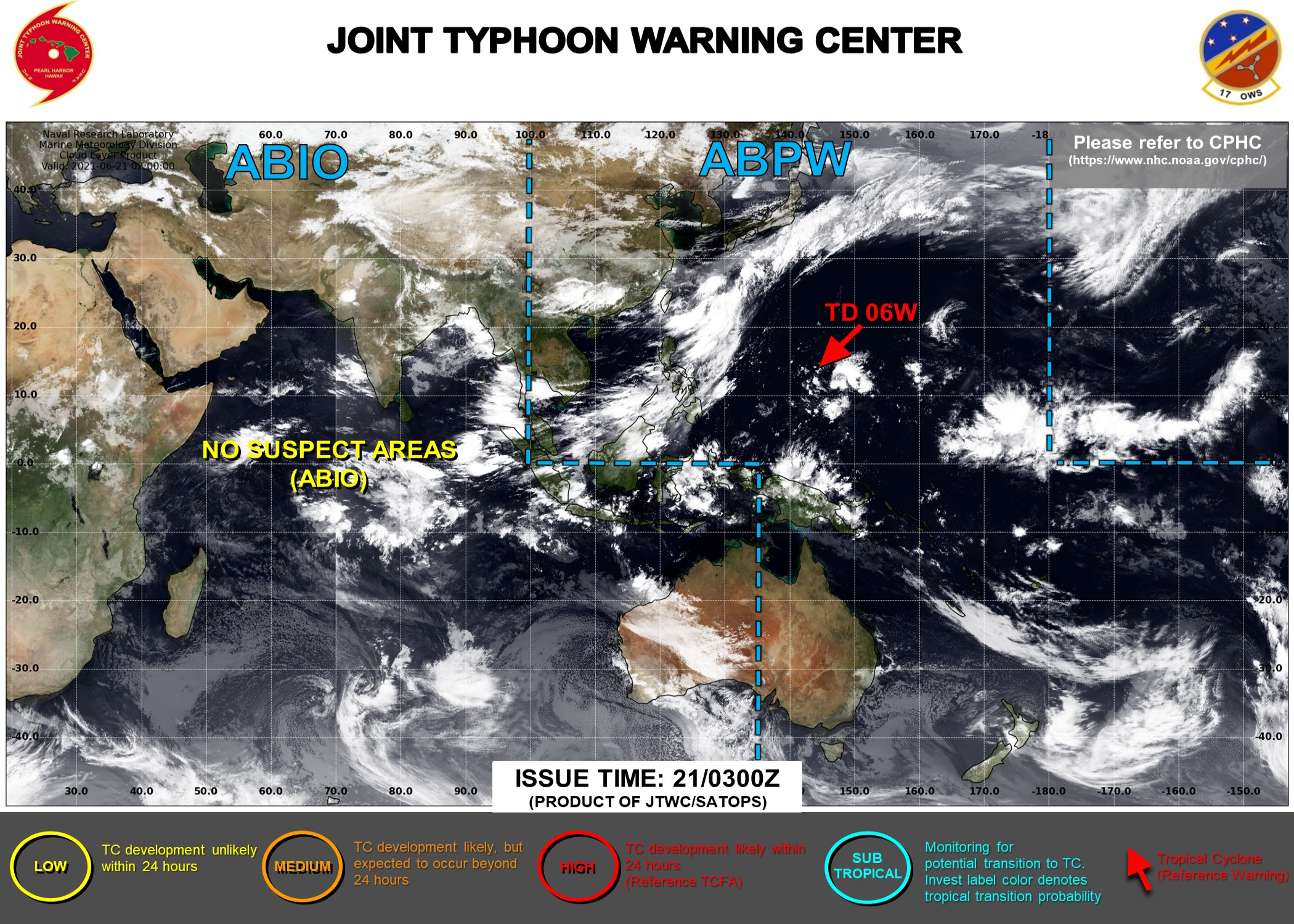 THE JTWC IS ISSUING 6HOURLY WARNINGS AND 3HOURLY SATELLITE BULLETINS ON 06W.