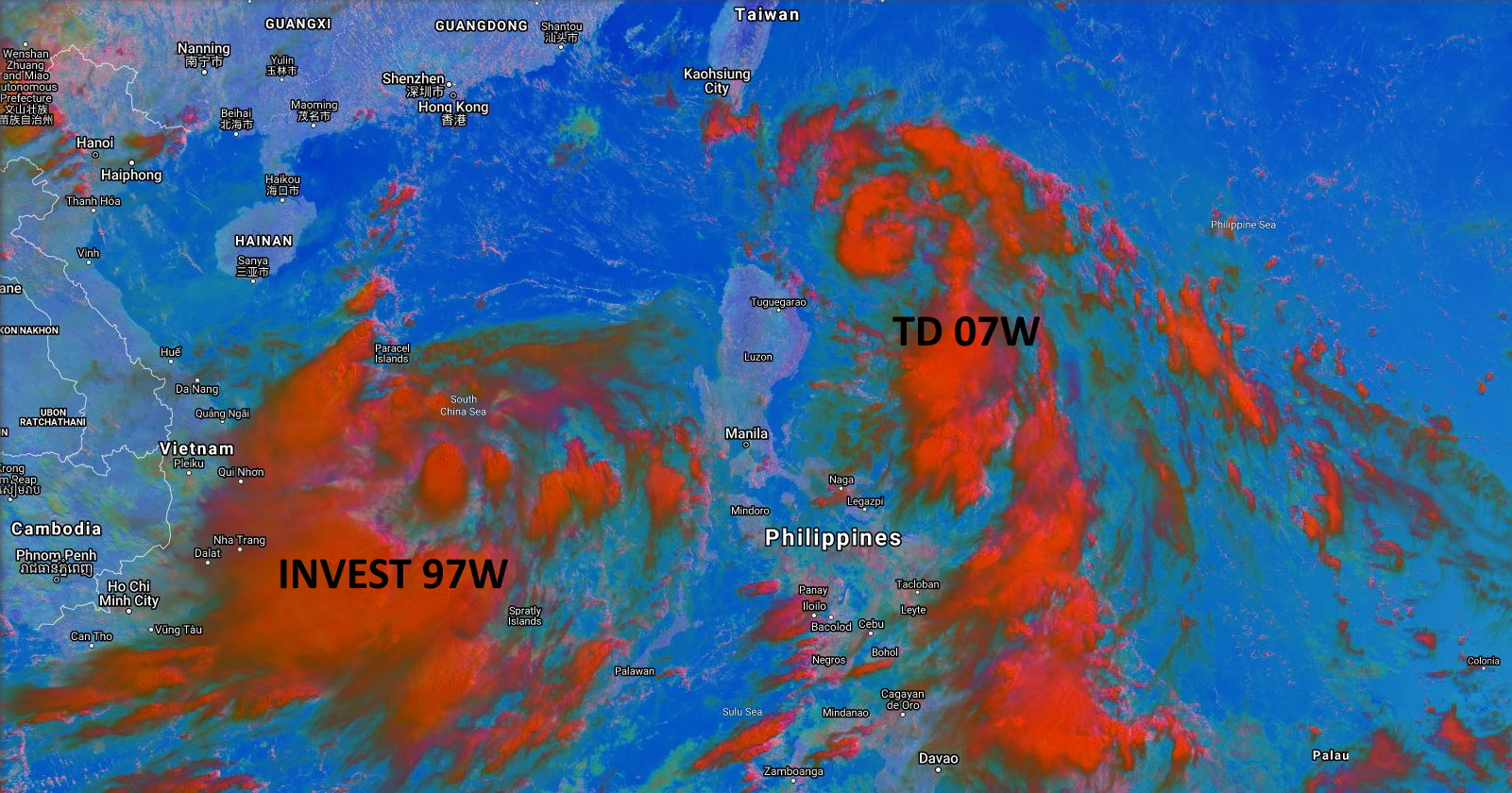 SATELLITE ANALYSIS, INITIAL POSITION AND INTENSITY DISCUSSION: ANIMATED MULTISPECTRAL SATELLITE IMAGERY (MSI) SUGGESTS THAT THE OVERALL CIRCULATION ASSOCIATED WITH TD 07W HAS IMPROVED SLIGHTLY. LOW-LEVEL CURVED BANDS ARE NOW CLEARLY EVIDENT IN THE SOUTHERN SECTOR, WRAPPING INTO A VERY COMPACT LOW LEVEL CIRCULATION CENTER (LLCC), INDICATING THAT A DISTINCT CLOSED LLCC HAS PINCHED OFF FROM THE LARGER TROUGH IN WHICH TD 07W WAS PREVIOUSLY EMBEDDED. FROM A CONVECTIVE STANDPOINT HOWEVER, THE SYSTEM REMAINS DISORGANIZED, WITH CONVECTION FLARING ALONG THE FEEDER BANDS BUT FAILING TO MAINTAIN ITSELF OVER OR NEAR THE CORE. THE SYSTEM HAS SPED UP SIGNIFICANTLY OVER THE PAST FEW HOURS, NOW MOVING AT LEAST 41 KM/H TOWARDS THE NORTHWEST, ALONG A TIGHTENED GRADIENT ON THE SOUTHWESTERN PERIPHERY OF A DEEP SUBTROPICAL RIDGE TO THE NORTHEAST. THE INITIAL POSITION WAS PLACED WITH MODERATE CONFIDENCE INITIALLY BUT LATE RECEIPT OF A 050023Z ASCAT-A PASS PROVIDES HIGH CONFIDENCE TO THE POSITION. THE INITIAL INTENSITY IS ASSESSED WITH MODERATE CONFIDENCE BASED ON A T2.0 (30 KTS) DVORAK INTENSITY ESTIMATE FROM KNES AND THE PREVIOUSLY MENTIONED ASCAT-A PASS, WHICH DOES SHOW A SLIGHT FURTHERANCE OF THE WRAP IN THE WIND FIELD IN THE NORTHERN QUADRANT, AND A PATCH OF 30 KNOT WINDS IN THE NORTHEAST THROUGH SOUTHEAST QUADRANTS.