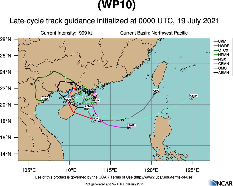 10W(CEMPAKA).MODEL DISCUSSION: NUMERICAL MODEL GUIDANCE SUPPORTS THE JTWC TRACK FORECAST WITH LOW CONFIDENCE. CONFIDENCE IN THE JTWC INTENSITY FORECAST IS MEDIUM WITH SOME UNCERTAINTY IN THE PEAK INTENSITY, WHICH COULD BE SLIGHTLY HIGHER CONSIDERING THE COMPACT NATURE OF THE SYSTEM AND THE TENDENCY FOR THESE TYPES OF SYSTEMS TO RAPIDLY INTENSIFY. ADDITIONALLY, THERE IS ENOUGH UNCERTAINTY IN THE TRACK AND THE POTENTIAL FOR A MORE PROLONGED TRACK OVER THE VERY WARM WATER.
