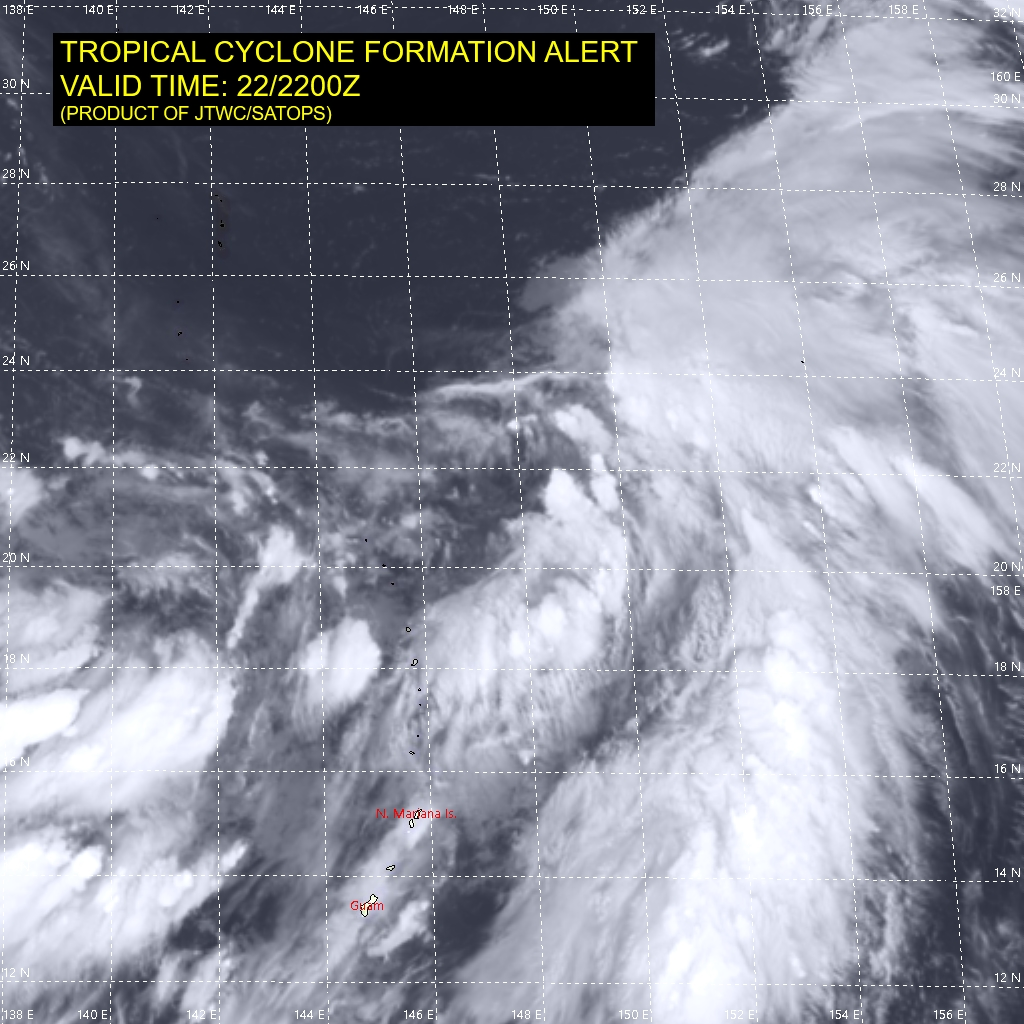 INVEST 90W.THIS SYSTEM IS CURRENTLY CLASSIFIED AS A  SUBTROPICAL STORM/DEPRESSION, GENERALLY CHARACTERIZED AS HAVING BOTH  TROPICAL AND MIDLATITUDE CYCLONE FEATURES. ANIMATED ENHANCED  INFRARED SATELLITE IMAGERY (EIR) AND A 221852UTC SSMIS 91 GHZ  MICROWAVE IMAGE DEPICT A LOW LEVEL CIRCULATION CENTER (LLCC) FORMING  ALONG THE EASTERN EXTENT OF THE MONSOON TROUGH WITH DEEP CONVECTION  OFFSET TO THE EASTERN AND SOUTHEASTERN PERIPHERIES. ENVIRONMENTAL  ANALYSIS INDICATES FAVORABLE CONDITIONS FOR DEVELOPMENT, WITH ROBUST  EQUATORWARD OUTFLOW, LOW (10-15 KTS) VERTICAL WIND SHEAR (VWS), AND  WARM (29-30C) SEA SURFACE TEMPERATURES (SST). THIS DISTURBANCE IS  EXPECTED TO DEVELOP QUICKLY AS A SUBTROPICAL CYCLONE AND IS  FORECASTED TO INTENSIFY AS IT TRACKS NORTHEASTWARD WITHIN A DEEP  UPPER-LEVEL TROUGH WITH WEAK BAROCLINICITY.