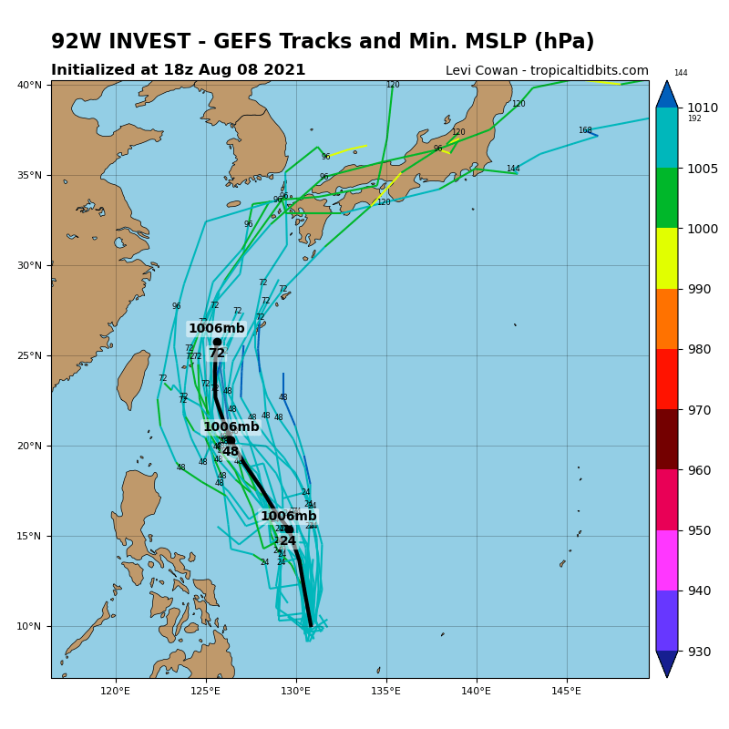 INVEST 92W. GUIDANCE. THIS SUSPECT AREA IS NOT ON THE JTWC MAP AT THE MOMENT BUT WE ARE KEEPING TABS ON IT.