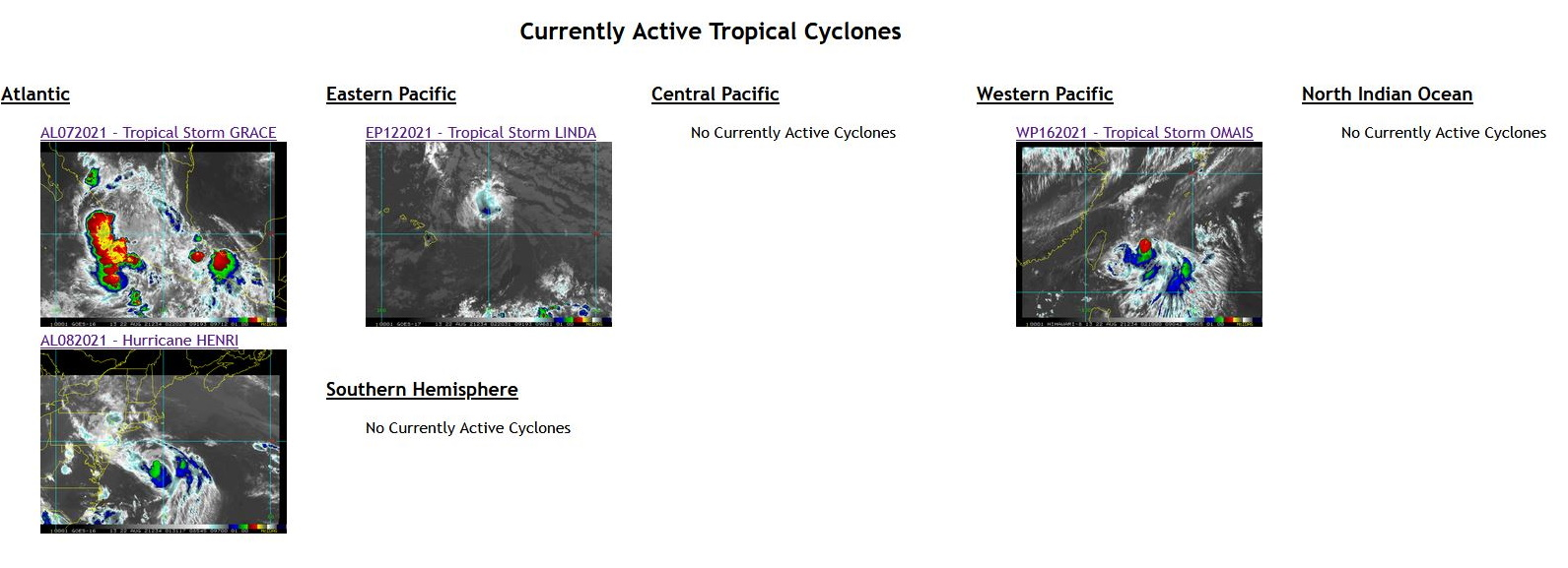 22/02UTC. CURRENT TROPICAL CYCLONE ACTIVITY WORLDWIDE.