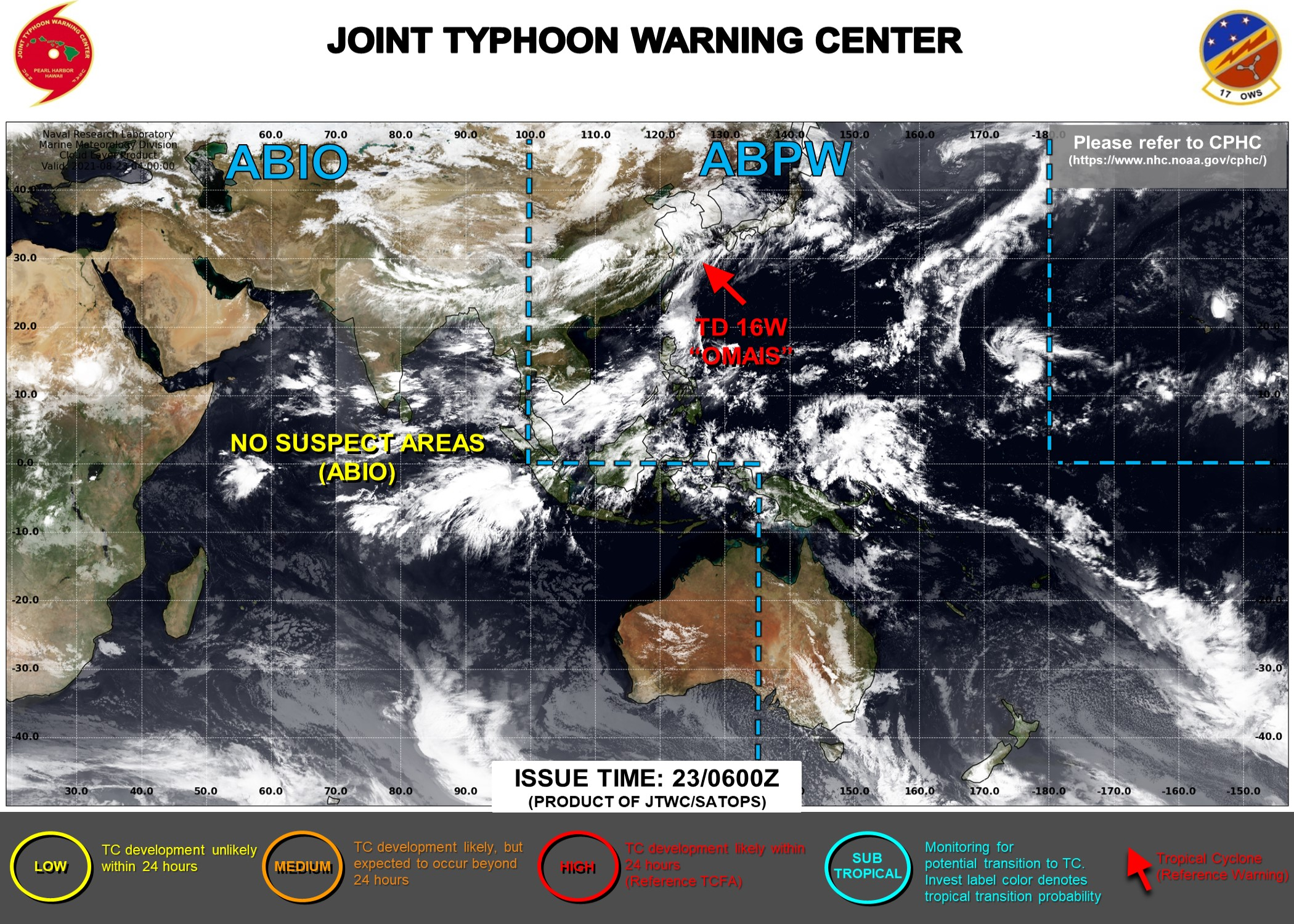 JTWC ARE ISSUING 6HOURLY WARNINGS AND 3HOURLY SATELLITE BULLETINS ON 16W.