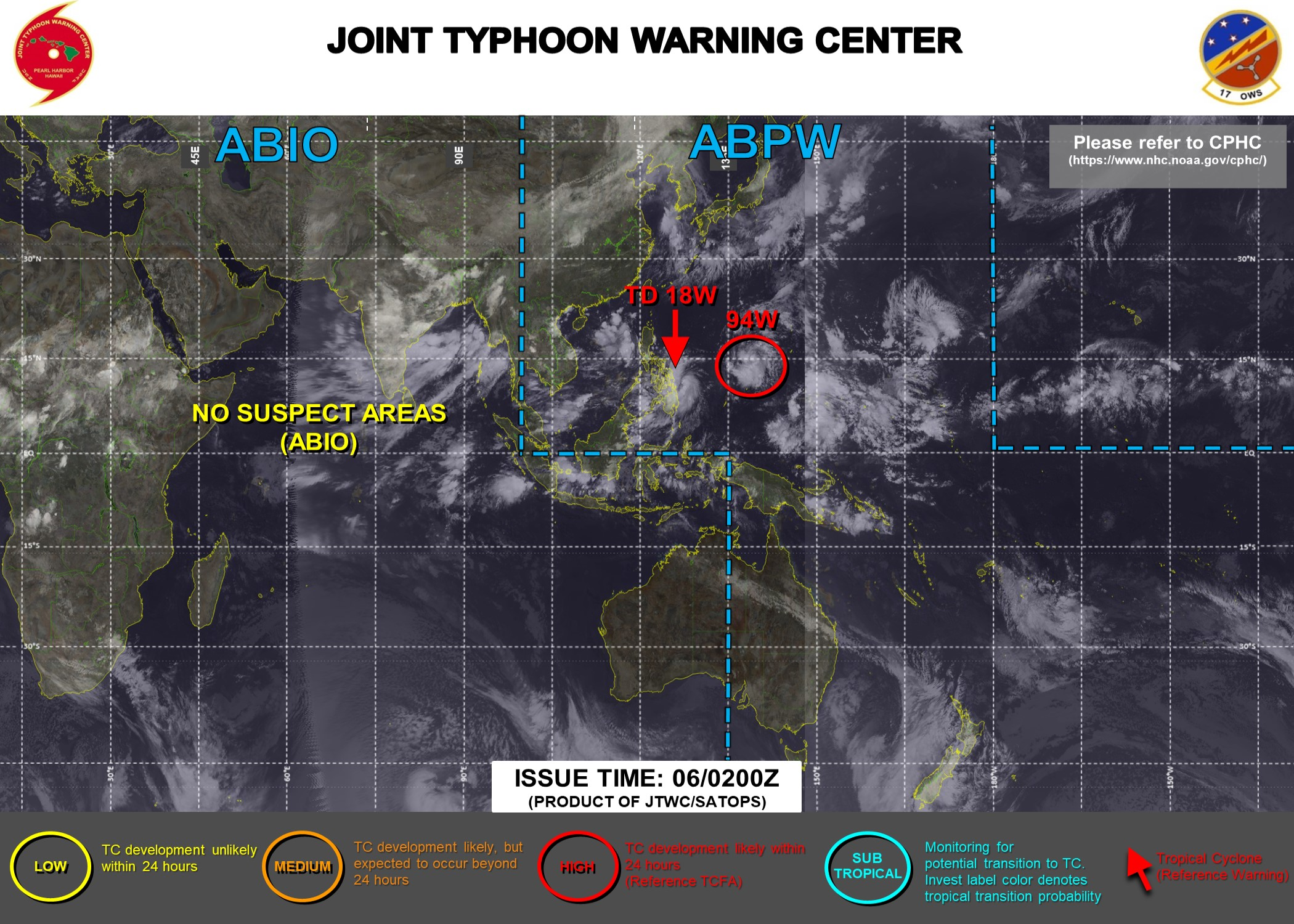Western Pacific: TD 18W gradually intensifying and approaching the Philippines, TCFA issued for Invest 94W//Atlantic: 12L(LARRY) strong CAT 3, 06/03utc updates