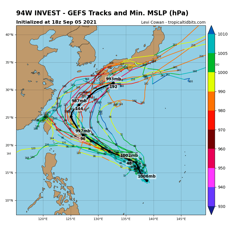 INVEST 94W.GLOBAL MODELS ARE IN GOOD AGREEMENT WITH 94 TRACKING  NORTHWESTWARD WITH DEVELOPMENT AND INTENSIFICATION IN THE NEXT 12-36 HOURS.