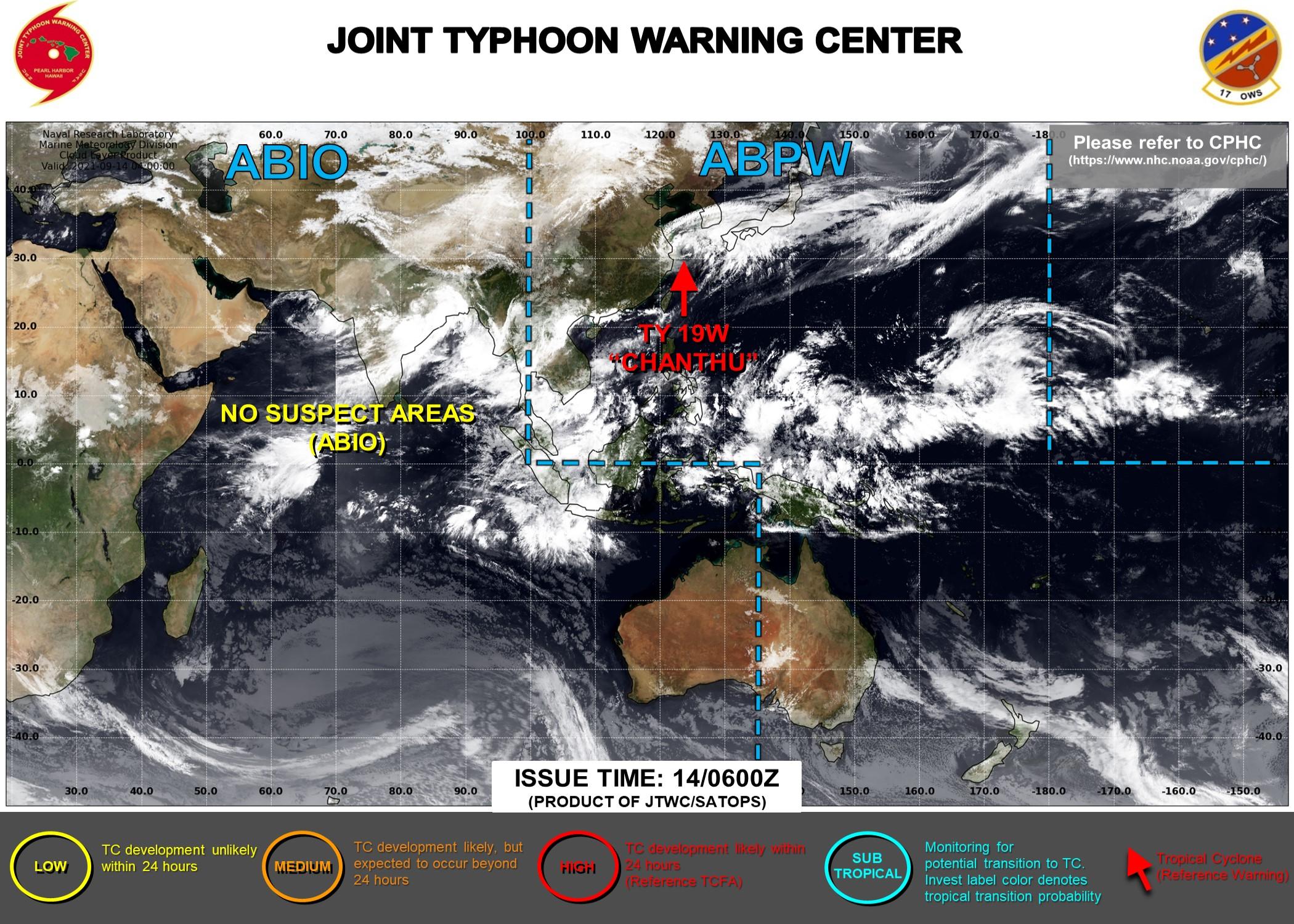 Western Pacific: TS 19W(CHANTHU) slow-moving next 24hours//Atlantic: TS 14L(NICHOLAS) made landfall at Hurricane/CAT 1 now over-land,14/09utc