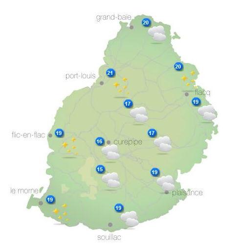ILES SOEURS: Vendredi 08 Octobre 2021: les prévisions du temps pour MAURICE et la RÉUNION