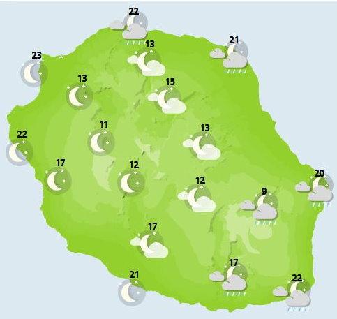 ILES SOEURS: Dimanche 10 Octobre 2021: les prévisions du temps pour MAURICE et la RÉUNION