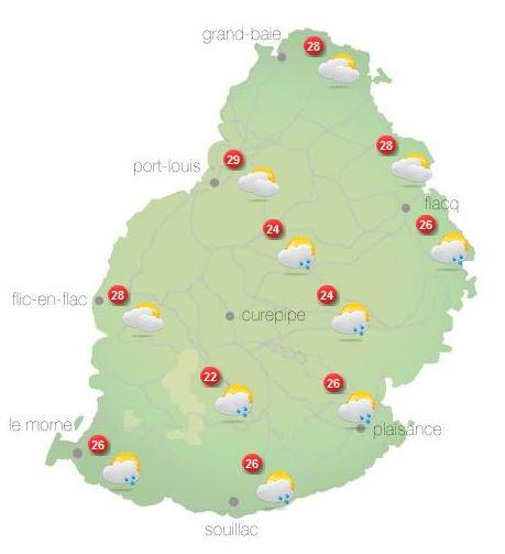 ILES SOEURS: Lundi 11 Octobre 2021: les prévisions du temps pour MAURICE et la RÉUNION, tendances pour la semaine