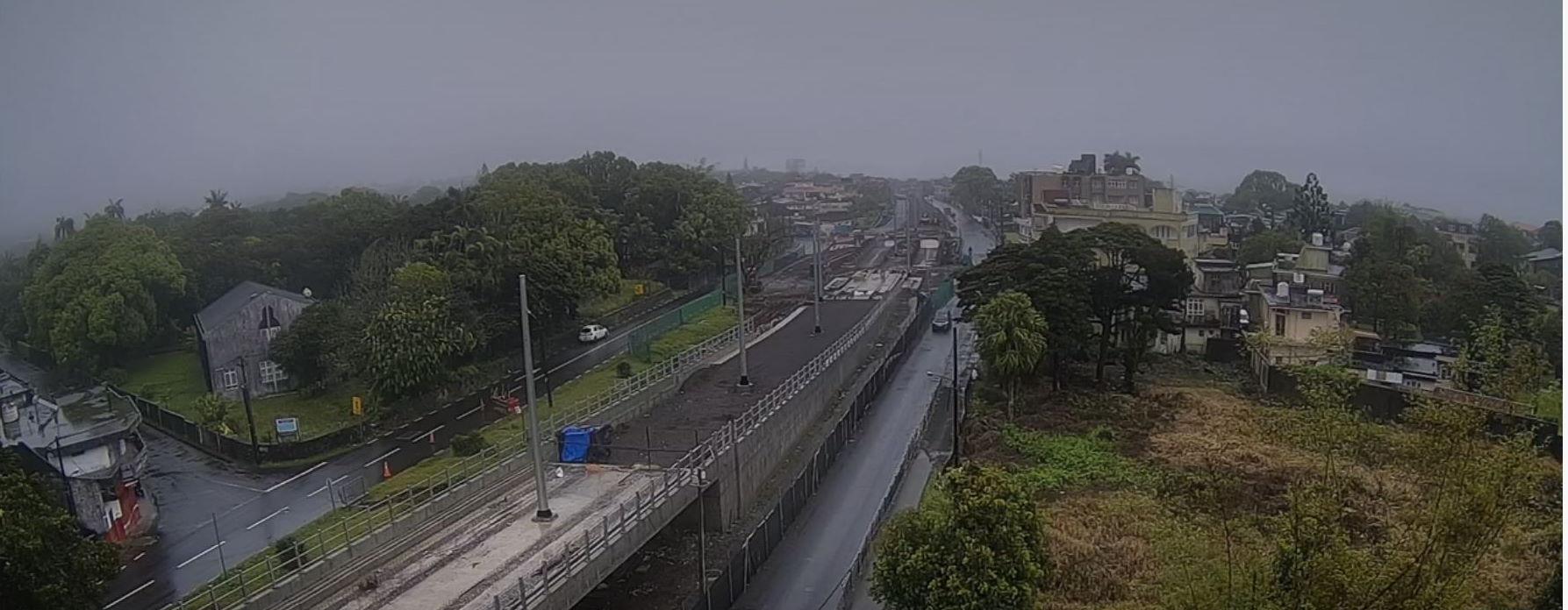 07h26.Temps pluvieux ce matin à Curepipe et sur MAURICE dans sa majorité.