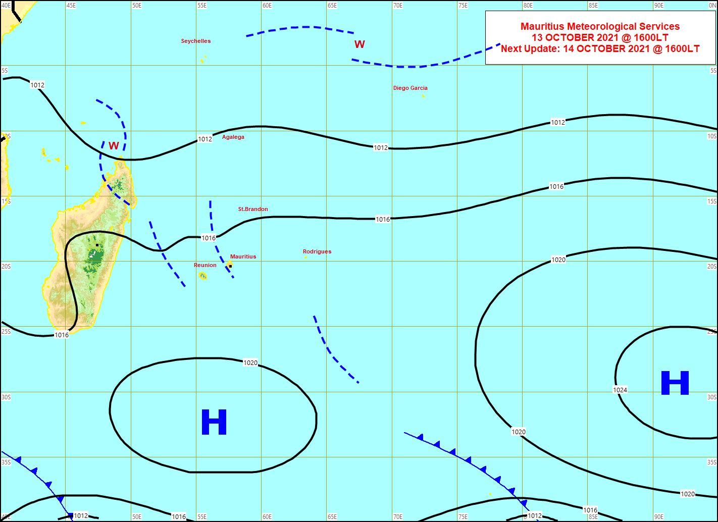 Les vents sont faibles à localement modérés sur les Mascareignes. Les alizés se renforceront Vendredi et Samedi.