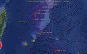 La première prévision du JTWC pour la dépression tropicale 07S