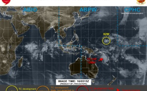 Western North Pacific: Invest 92W now on the chart from JTWC