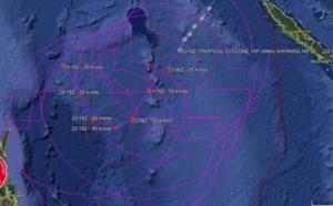 21UTC: cyclone OMA(15P): slow-moving and slowly weakening next 5 days