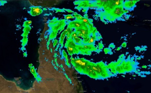 21UTC: TC TREVOR(20P) has formed, intensifying rapidly over the Coral Sea with landfall over Cape York expected shortly after 36hours