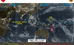 Coral Sea: INVEST 94P likely to intensify next 24/48h and may take on subtropical characteristics