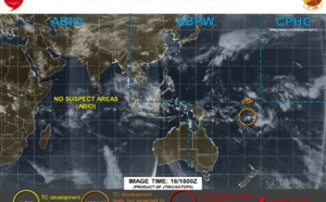95P northeast of Vanuatu: may intensify a bit next 48 hours