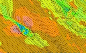 REUNION: le vent secoue et peut atteindre 90km/h en rafales aujourd'hui, la mer grossit