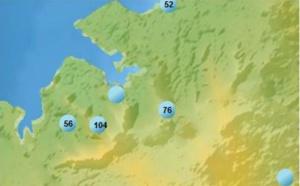 """MAURICE: un vent de """"ouf"""", 104km/h à la Montagne des Signaux"""