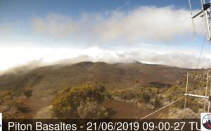 84km/h à Pierrefonds, 28° à Saint Gilles et 8.2° au volcan...