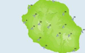 REUNION: en plus du temps pluvieux de fortes rafales enregistrées dans les hauts de l'Ouest, dans les plaines...