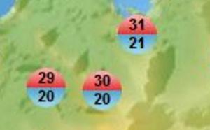 MAURICE: 30.6° à Port Louis le 10 Juillet, au plus proche du record absolu de 1973, Avis de Fortes houles émis demain