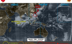 INVEST 91W is upgraded to HIGH but possible intensification does appear limited