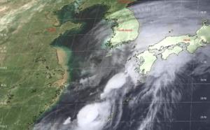 TS DANAS(06W) should weaken rapidly over the mountainous terrain of South Korea after 12hours