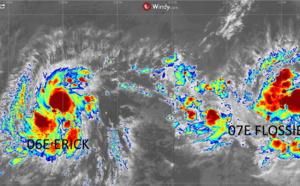 Ouragans: un duo cyclonique traqué en ce moment sur le Pacifique