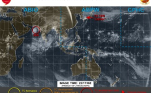 Invest 96A: Tropical Cyclone Formation Alert. Tapah(18W): over the Sea of Japan