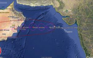 TC 03A midget-like , landfall south of Masirah/Oman shortly after 36h. Tapah(18W): Final Warning