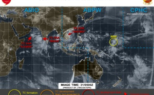 ex TS Matmo(23W), TC Kyarr(04A), TC Maha(05A) and Invest 99W updates