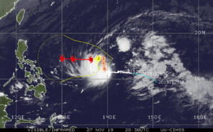Kammuri now a Typhoon should be intensifying next 4 days, approaching the Philippines