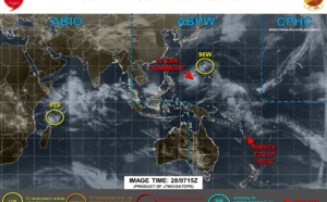 Invest 96W and Invest 91S: LOW